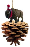 Buffalo Pinecone Pet Ornament
