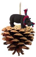 Hippopotamus Pinecone Pet Ornament