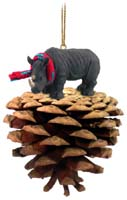 Rhinoceros Pinecone Pet Ornament