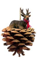Elk Bull Pinecone Pet Ornament
