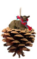 Elk Cow Pinecone Pet Ornament