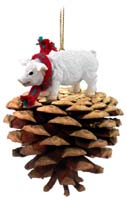 Pig Pink Pinecone Pet Ornament