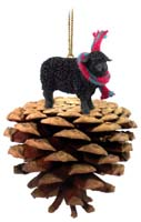 Sheep Black Pinecone Pet Ornament