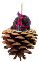Porcupine Pinecone Pet Ornament