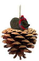 Hedgehog Pinecone Pet Ornament