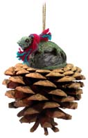 Iguana Pinecone Pet Ornament