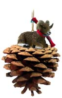 Big Horn Sheep Pinecone Pet Ornament