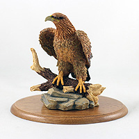Eagle Golden Figurine