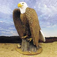 Eagle On Stump Figurine