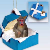 Mandrill Gift Box Blue Ornament