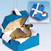 Camel Dromedary Gift Box Blue Ornament