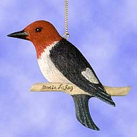 Redheaded Woodpecker Hanging Suncatcher