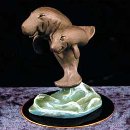 Manatee Figurine (Black Base)