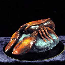Lobster Figurine (Black Base)