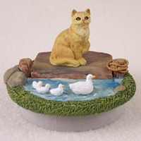 Red Shorthaired Tabby Candle Topper Tiny One