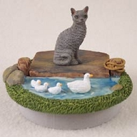 Blue Cornish Rex Candle Topper Tiny One