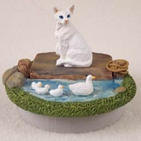 White Oriental Shorthaired Candle Topper Tiny One