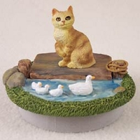 Red Manx Candle Topper Tiny One