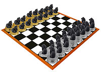 Pomeranian Black Chess Set (Pieces Only)