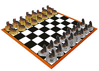 Yorkshire Terrier Chess Set (Pieces Only)