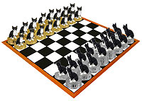 Chihuahua Black & White Chess Set (Pieces Only)