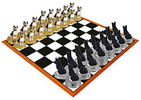 German Shepherd Tan & Black Chess Set (Pieces Only)