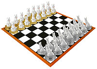German Shepherd White Chess Set (Pieces Only)