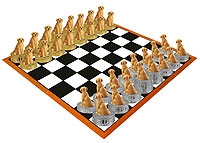 Golden Retriever Chess Set (Pieces Only)