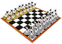 Rat Terrier Chess Set (Pieces Only)
