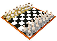 Labradoodle Cream Chess Set (Pieces Only)