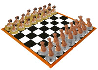 Puggle Chess Set (Pieces Only)