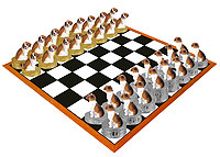 Beagle Chess Set (Pieces Only)