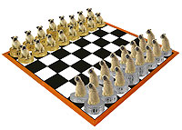 Pug Fawn Chess Set (Pieces Only)