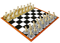Labrador Retriever Yellow Chess Set (Pieces Only)