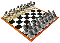 Keeshond Chess Set (Pieces Only)