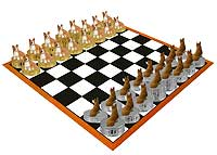 Welsh Corgi Pembroke Chess Set (Pieces Only)
