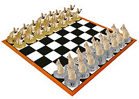French Bulldog Fawn Chess Set (Pieces Only)