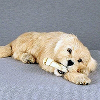 Golden Retriever My Dog Fur Figurine
