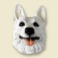 German Shepherd White Doogie Head