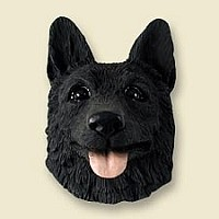 German Shepherd Black Doogie Head