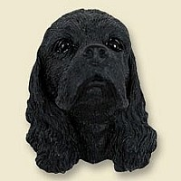 Cocker Spaniel Black Doogie Head