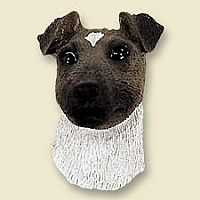 Fox Terrier Brown & White Doogie Head