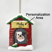Bulldog Brindle House Ornament (Personalize-It-Yourself)