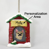 Chihuahua Brindle & White House Ornament (Personalize-It-Yourself)