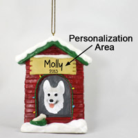 German Shepherd White House Ornament (Personalize-It-Yourself)