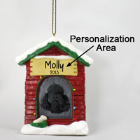 Poodle Black w/Sport Cut House Ornament (Personalize-It-Yourself)