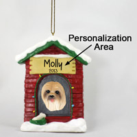 Lhasa Apso Brown House Ornament (Personalize-It-Yourself)