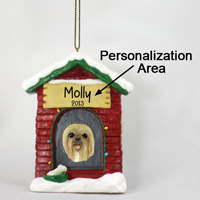 Lhasa Apso Blonde House Ornament (Personalize-It-Yourself)