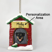 Rottweiler House Ornament (Personalize-It-Yourself)
