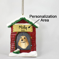 Cocker Spaniel English Blonde House Ornament (Personalize-It-Yourself)